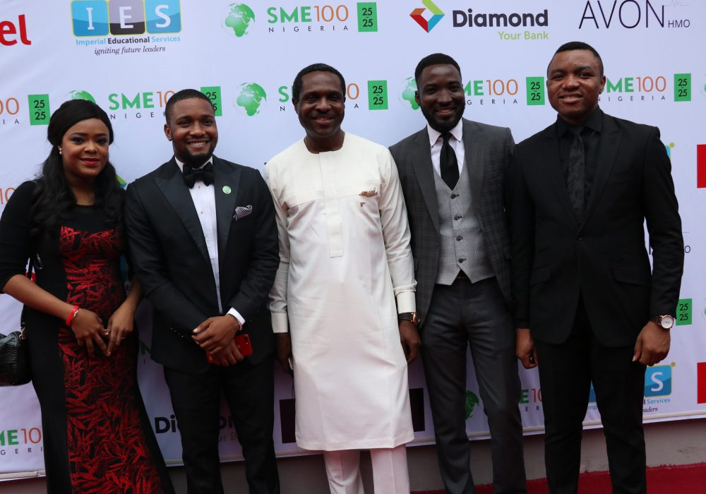 Titilayo Oyinsan, co-host TVC Wakeup Nigeria, Executive Director SME100, Charles Odii, Tonye Cole, CEO Sahara Group, and Yomi Owope, co-host TVC Wakeup Nigeria.