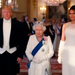 The monarch hosted a private lunch for Trump and his wife