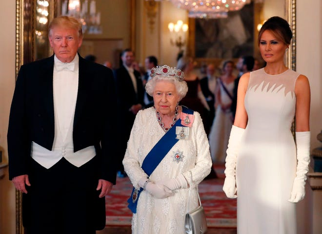 You are currently viewing The monarch hosted a private lunch for Trump and his wife