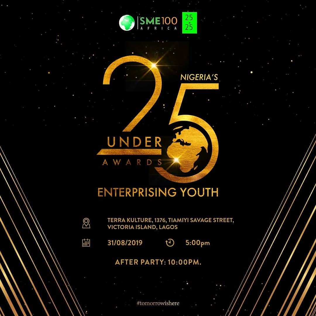 Read more about the article The Fourth Edition of The SME100 AFRICA 25 Under 25 Awards