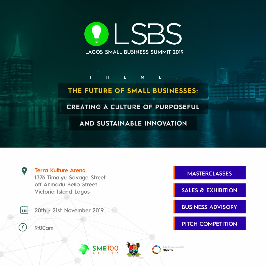 You are currently viewing SME100 ANNOUNCES 2 DAYS LAGOS SMALL BUSINESS SUMMIT