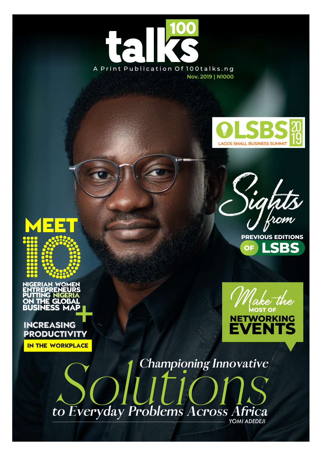 You are currently viewing CEO of Softcom, Grace The cover of 100talks Magazine , November 2019 issue