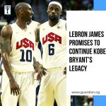 LeBron James promised to continue Kobe Bryant's legacy