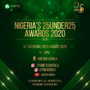 KIKI OSINBAJO, TAAOOMA, KUMI JUBA, CAPTAIN E, SYDNEY TALKER OTHERS NOMINATED FOR NIGERIA's 25 UNDER 25 Awards.