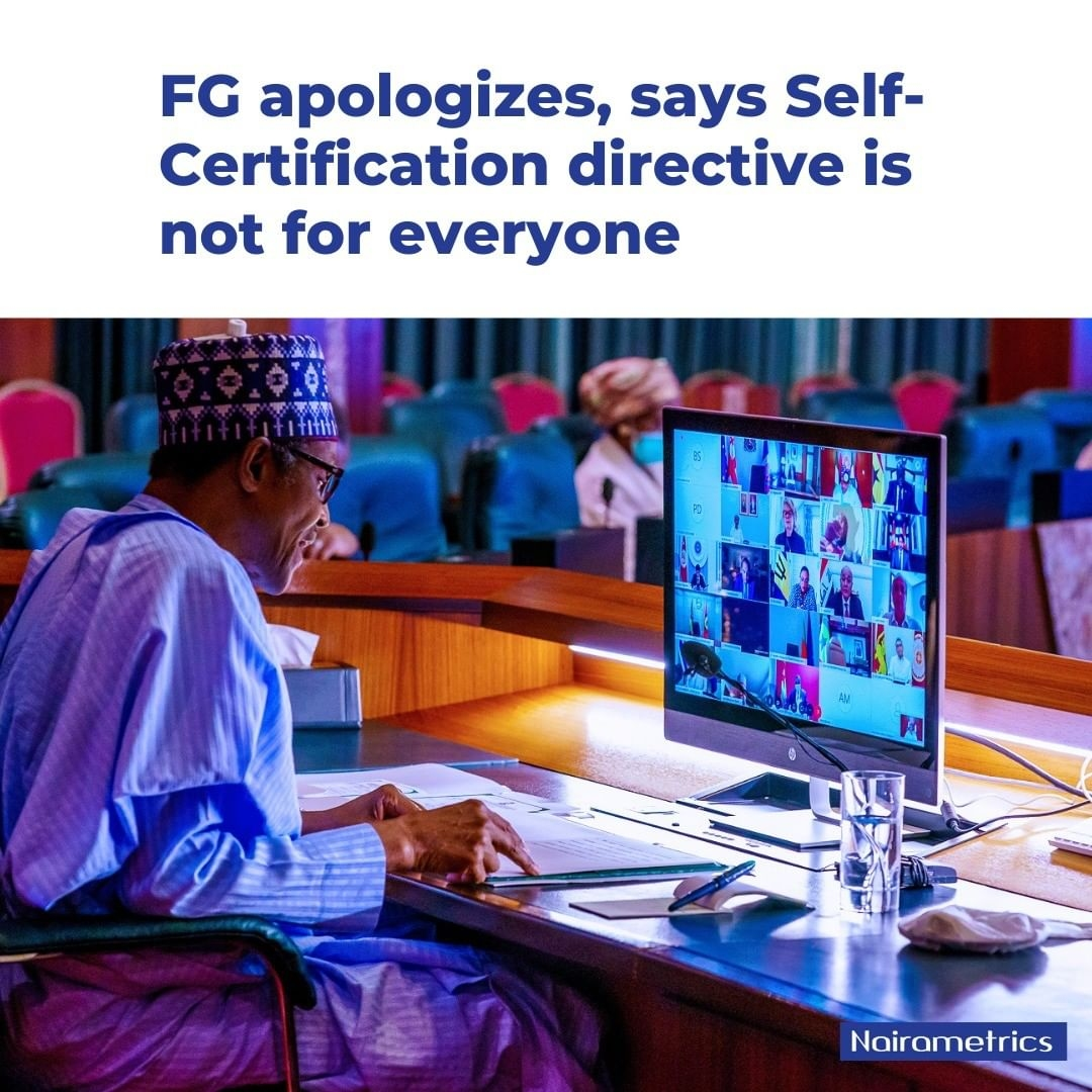 Read more about the article Self-Certification Is Not For Everyone, FG