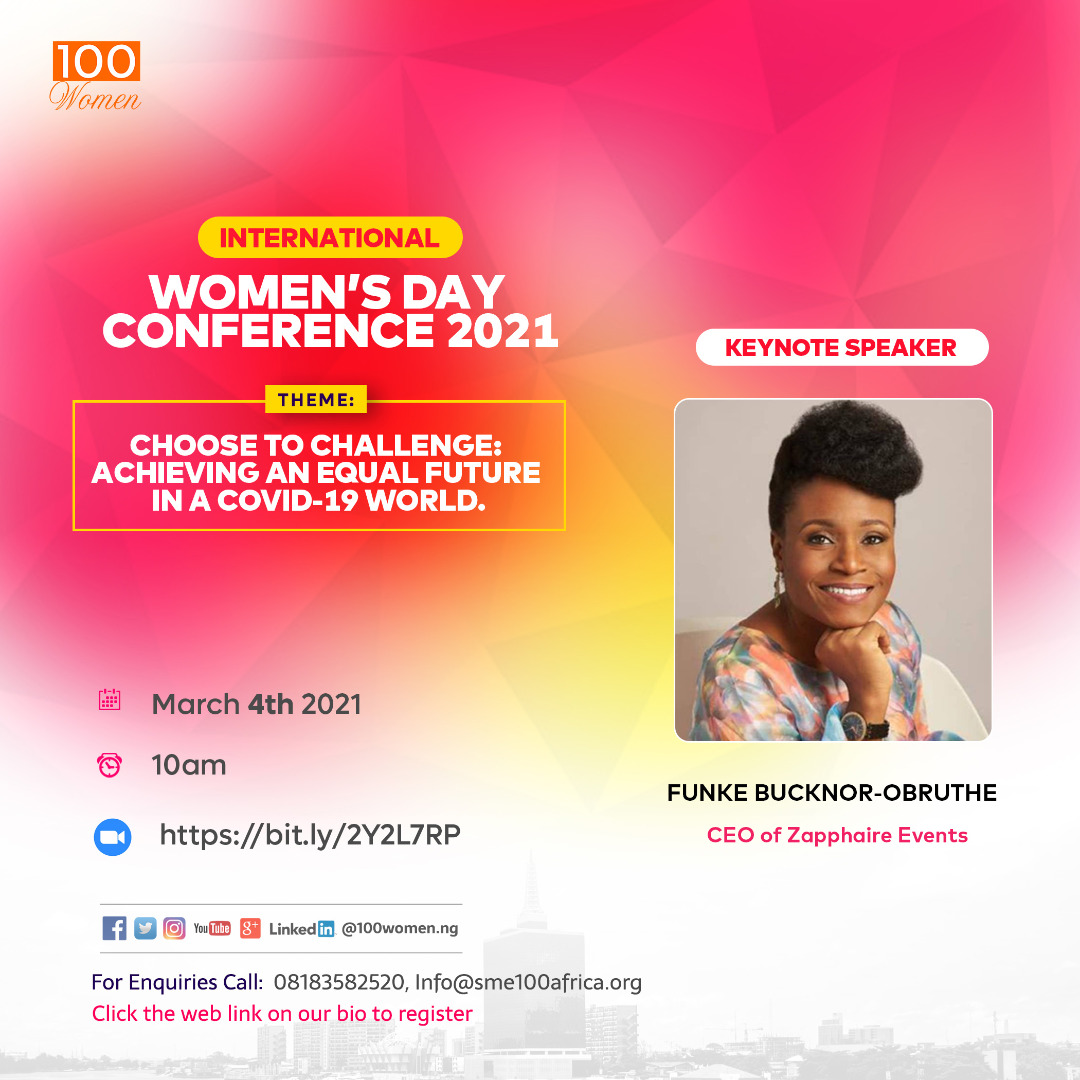 Read more about the article Meet The Key Speaker For The 100Women International Women Conference 2021 – Funke Bucknor-Obruthe