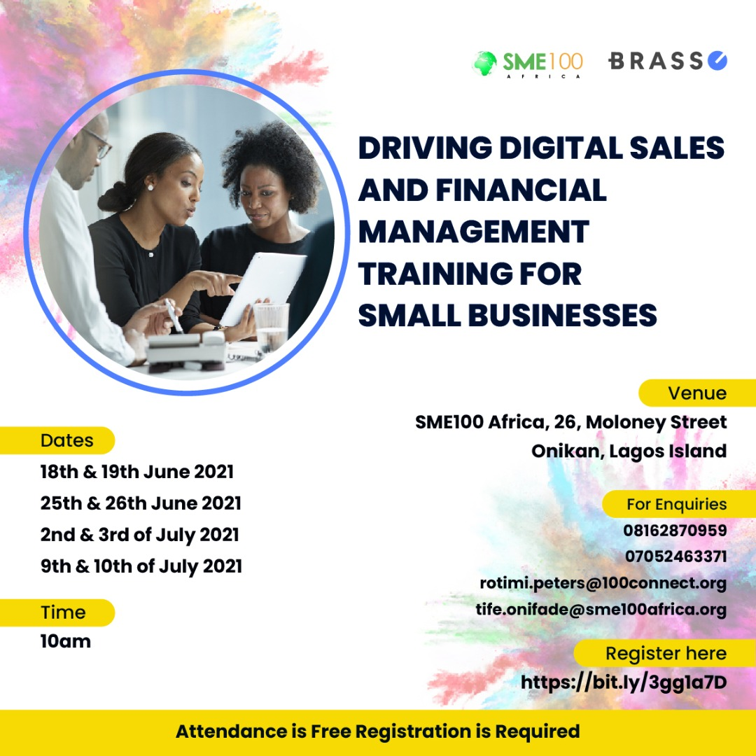Read more about the article Registration For Digital Sales And Financial Management Training Is Now Open!!