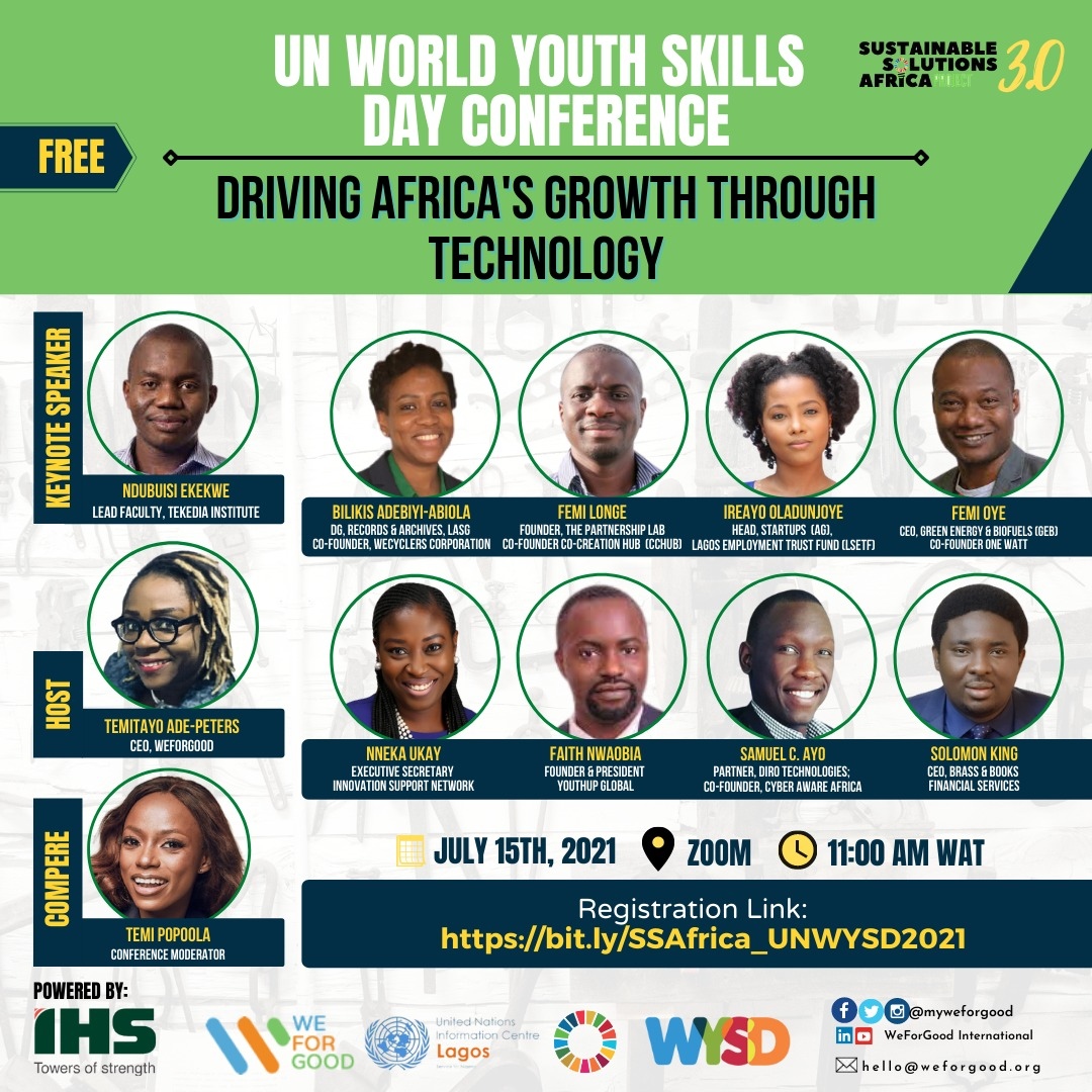 You are currently viewing Weforgood, IHS And United Nations Information Centre Collaborate To Host UN World Youth Skills Day Conference